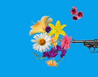 Flowers and Gun