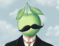Rene Magritte - Son of Man - With a twist