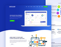 Landing page design for Centillien software development