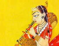 Traditional Pahari Painting - Basoli