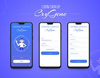 CryGene Login/Signup Page #DailyUI