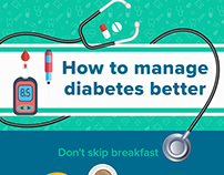 Medlife - How to Manage Diabetes - #Infographics