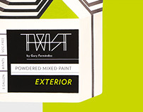 Twist Powder Mixed Paint / Innovative Packaging