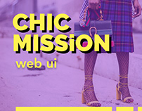 CHIC MISSiON (web ui clickable prototype)