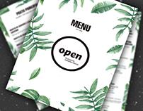 OPEN - Eco Restaurant Menu Design