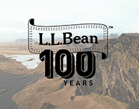L.L. Bean 100th Anniversary Logo Illustration