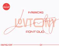 Lovtony Font Duo