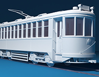 Tram (tramway) 3d model / Work in Progress