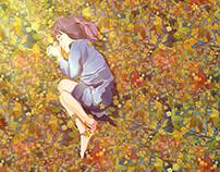 Daughter & daisies
