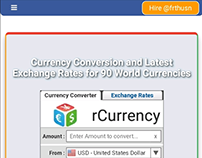 rCurrency, A web currency converter by @rfthusn.