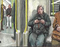 sketchbook   metro scenes (gouache)