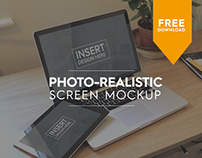 FREE Photo-realistic Mock-up pack