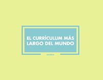 BARBIE // El currículum más largo del mundo