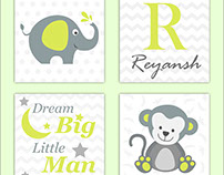 Kids Room Name Frames