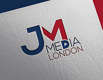 jm media london logo design