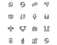16 Communication Icons