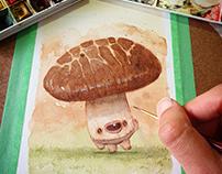 Seriously Cute Mushroom Illustration + process