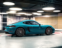 Porsche 718 Cayman - CGI & Retouching