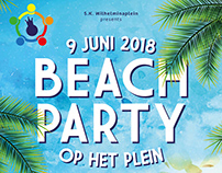 Poster Beachparty / Beachvolleybal