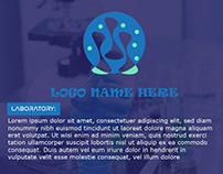 Cartoon Style Lab Logo Design Template