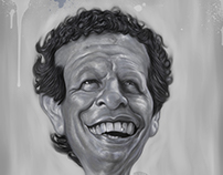 """Caricatura de """"El Poeta"""""""