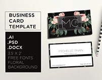 Floral, elegant business card