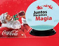 propuesta de tarjeta san duchada  coca-cola Navidad