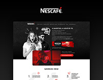 Nescafé X Dorko promotional campaign website design