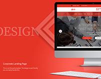Mela Corporate Landing page