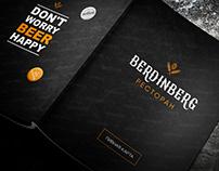 """Beer card for restaurant """"Berdinberg"""""""