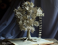 Tree House - Book Sculpture