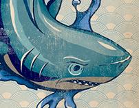JAPANESE SHARK PRINT