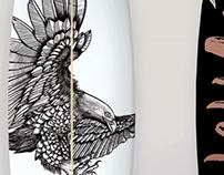 Surfboard illustration & design