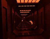 Abstract Sci Fi Corridor