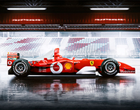 Iconic Picture of a real F1 SCHUMACHER car