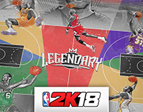"NBA 2K18 ""Legendary Court"" Design"