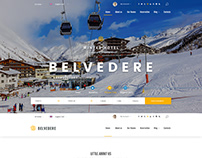 "Winter hotel ""Belvedere"" - bootstrap website template"