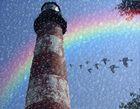 How to add a rainbow and weather to photo