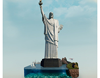Retoque fotográfico e ilustración - Río York