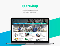 Sport shop/E-commerce template/Web design/UI/UX