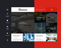 Simple corporative grid website design