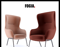 Fogia Mame Armchair 3d Model Nichetto Studio