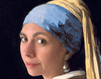 Della with a Pearl Earring