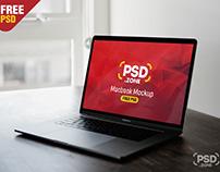 Gray Macbook Pro Mockup PSD