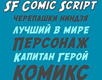 SF Comic Script with cyrillic