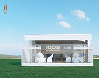 IQOS. Outdoor promotional space