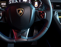 CGI | Lamborghini Aventador Interior