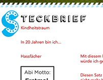 Steckbrief Template Abi-Jahrgangsbuch