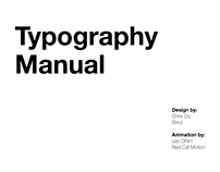 Typography Manual Part 1