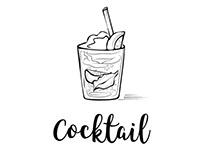 Cocktail set illustration